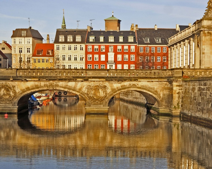 The marble bridge, Copenhagen, Denmark