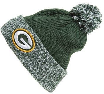 $19, Dark Green Beanie: New Era Cap Flurry Frost Nfl Green Bay Packers Pom Knit Cap. Sold by Nordstrom. Click for more info: https://lookastic.com/men/shop_items/97122/redirect