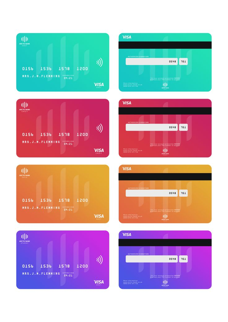 Check out this behance project arctic bank debitcredit