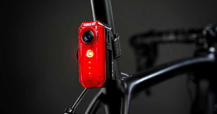 Fly6[v] - Rear Facing Bike Camera and Tail Light records everything behind you in crisp HD. Bright 30 bicycle light. Massive battery power.