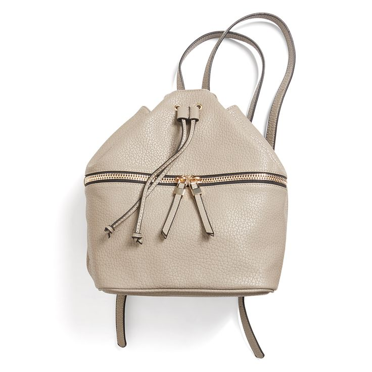 If you're a lady on-the-go, sometimes a handbag won't cut it. A neutral backpack in faux leather updates this grade-school favorite for adults. Stitch Fix | Jude Zip Detail Backpack