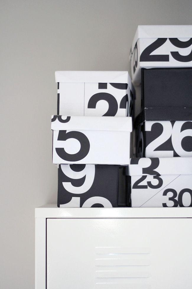 Last year calendar x shoe boxes