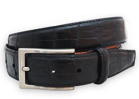Alligator leather belt