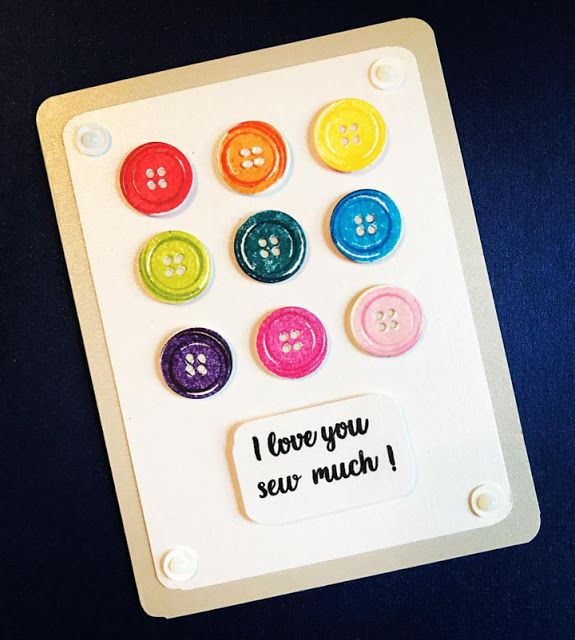 Sunny Studio Stamps: Cute As A Button Customer Card Share by Lori Frassinelli