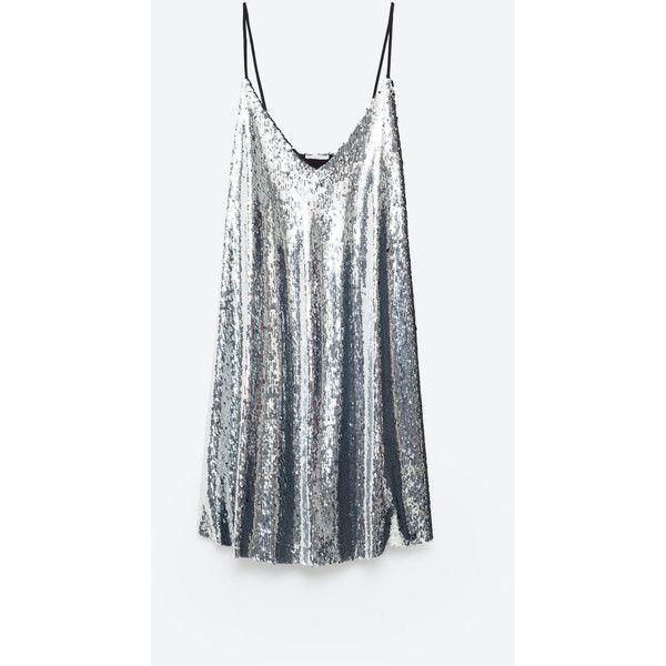 SEQUIN DRESS - DRESSES-WOMAN | ZARA Netherlands (72 020 LBP) ❤ liked on Polyvore featuring dresses, vestido, zara, sequin cocktail dresses, sequin dresses and sequin embellished dress