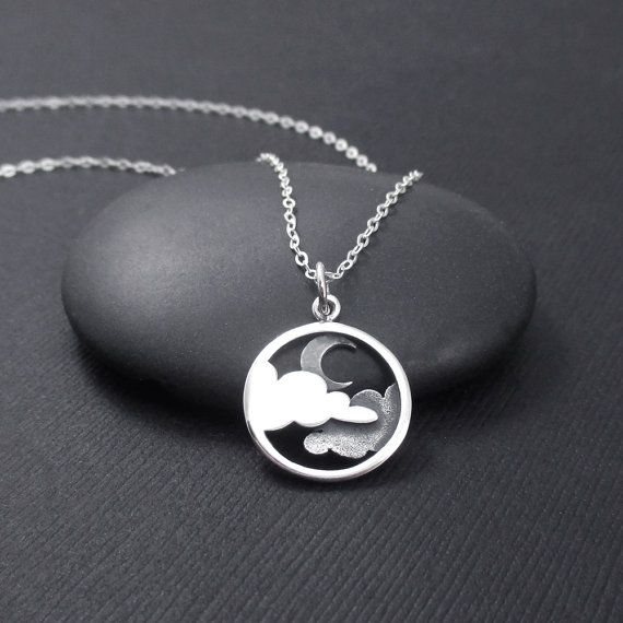 Hey, I found this really awesome Etsy listing at https://www.etsy.com/listing/261234114/moon-and-cloud-necklace-sterling-silver