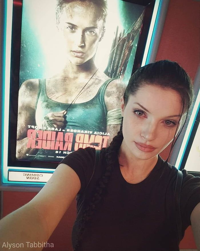 Lara Croft Selfie From The Tomb Raider 2001 Movie By Alyson Tabbitha Lara Croft Tomb Raider 2001 Tomb Raider Movie