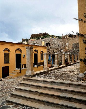 Volissos castle village Chios Island, Greece