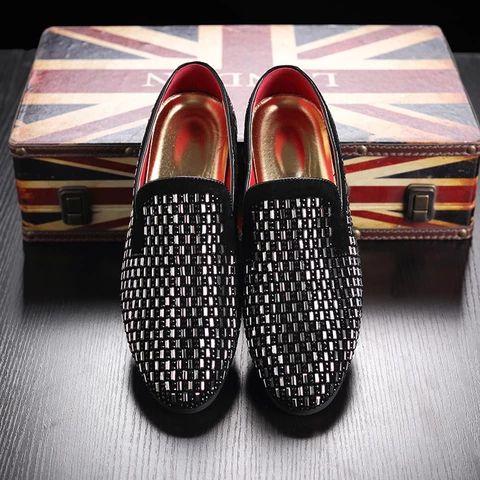pvc bricks decoration mens formal dress shoes soft sole