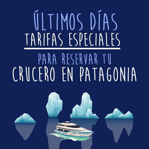 ÚLTIMOS DÍAS para reservar tu crucero por Patagonia con TARIFAS ESPECIALES! Lugares únicos, tesoros escondidos, naturaleza salvaje, experiencias emocionantes, servicio premium, qué más se puede pedir? Consúltenos y reciba más información