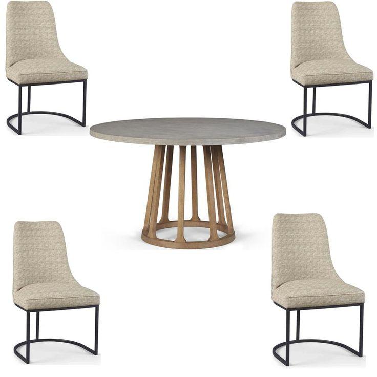 ART Furniture - Epicenters Austin Brown Fountainwood 5 Piece Round Dining Table Set - 235225-1501-5SET