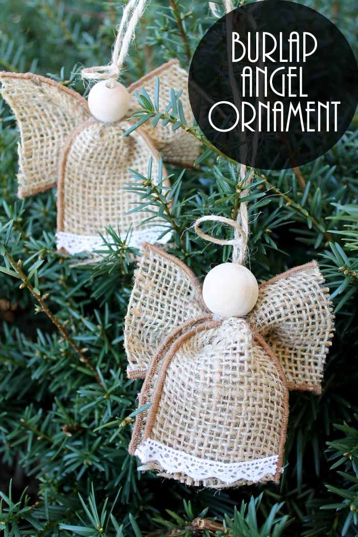 Angel Ornaments Made From Burlap Easy Christmas Crafts Diy Christmas Ornaments Christmas Ornaments