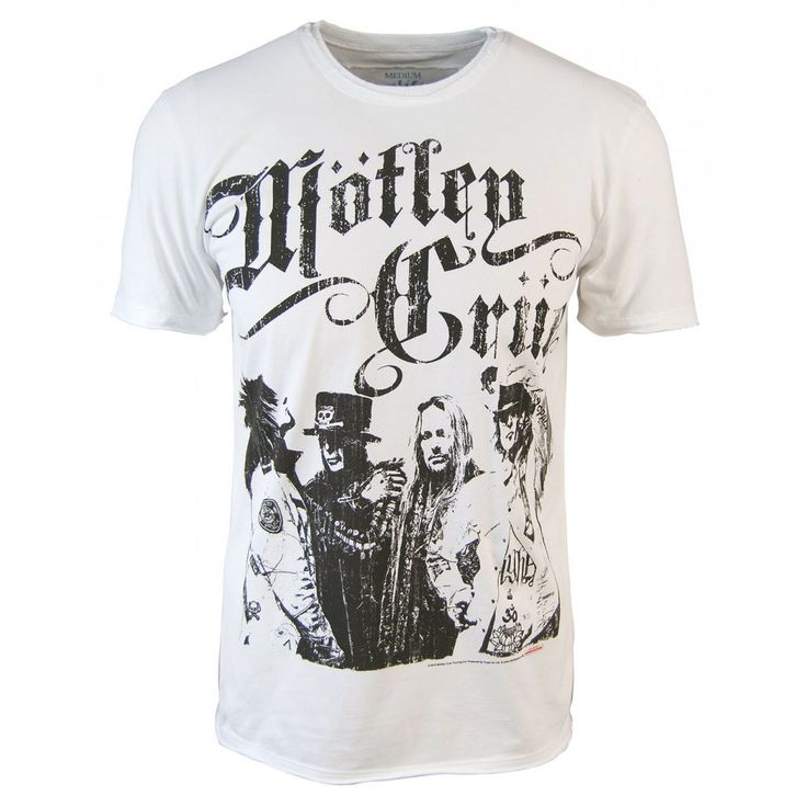 Amplified Mens Motley Crue Sticky Sweet T Shirt, White