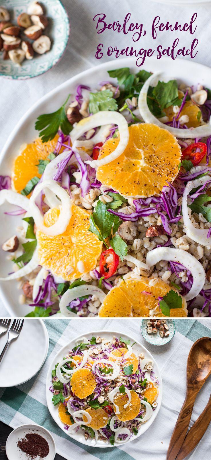 Vegan fennel and orange salad