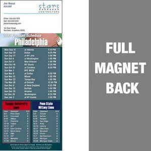 "Philadelphia Pro Football Schedule Vinyl Magnet (3 1/2""x8 1/2"")"