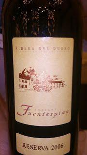 37- Cepa: Tempranillo - Avelino Vegas, Fuentespina Reserva -  Ribera del Duero/Espanha - 2006
