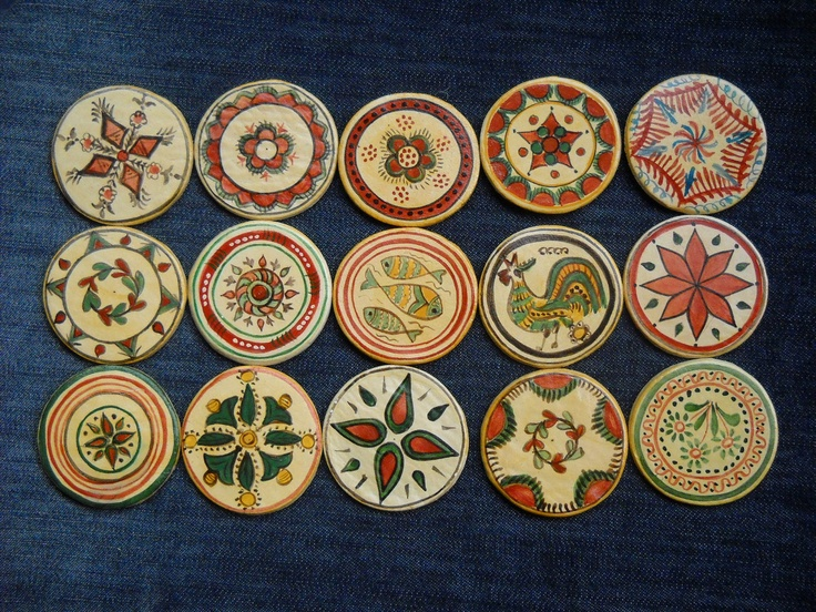 fridge magnets inspired by 19th century Romanian pottery   Etsy http://www.etsy.com/listing/79415975/romanian-traditional-motivesmagnets-01?ref=hp_tt_yt