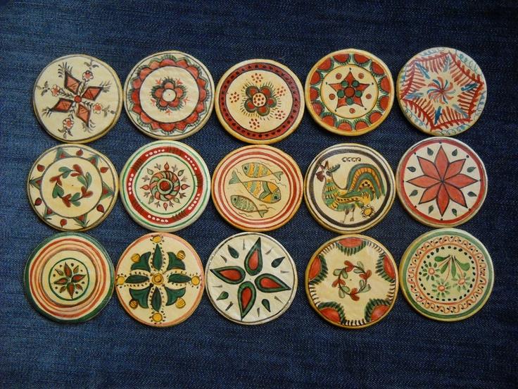 fridge magnets inspired by 19th century Romanian pottery   Etsy http://www.etsy.com/listing/79415975/romanian-traditional-motivesmagnets-01?ref=hp_tt_yt