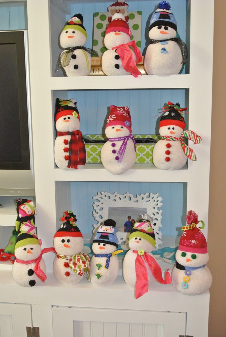 68 best snowman sock craft images on pinterest christmas ideas