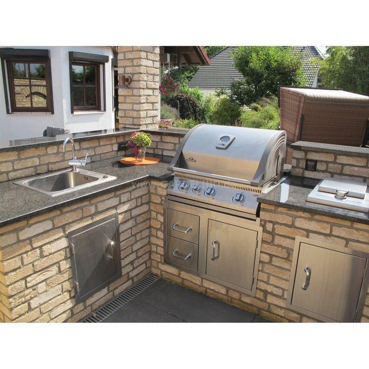 Außenküche mit Napoleon Einbau Gasgrill – aubenkuche.todaypin.com