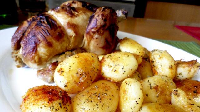 Pollo picantón a la mostaza