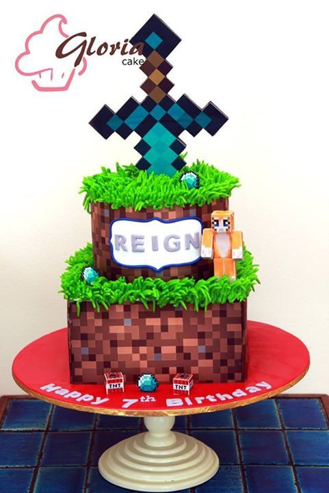 Cake Decorating Solutions Fondant : 10 Best images about Minecraft Cakes on Pinterest Pool ...