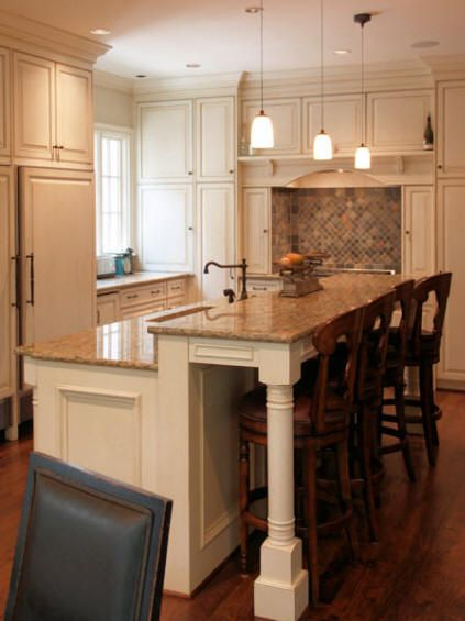 25 best ideas about kitchen island bar on pinterest for Kitchen island height