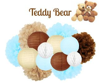 Teddy Bear Cupcake Toppers teddy bear birthday by PerfectLilParty