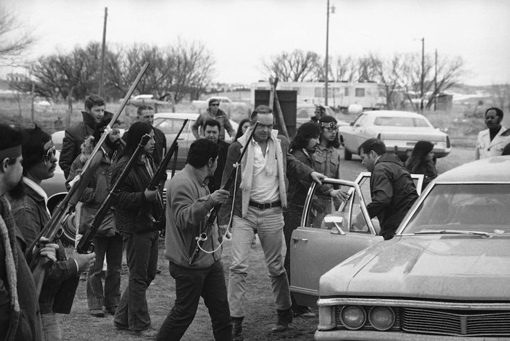 Wounded Knee Occupation: Set in the same impoverished village as the 1890 massacre, the siege began February 27 and is hailed as one of AIM's greatest successes. About 200 Sioux Indians participated in the occupation, which attracted supporters from dozens of other tribes and called global attention to generations of mistreatment from federal and local agencies.