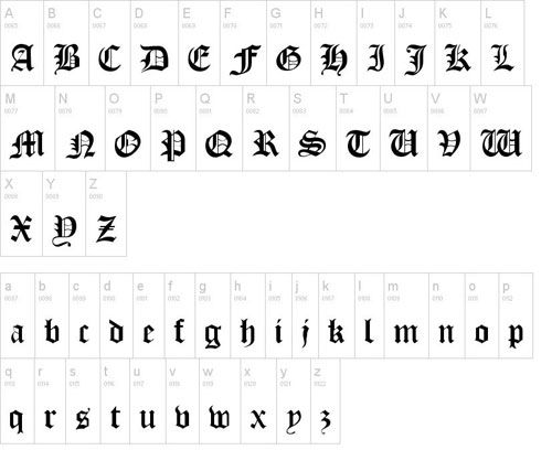 Old London font available for free download