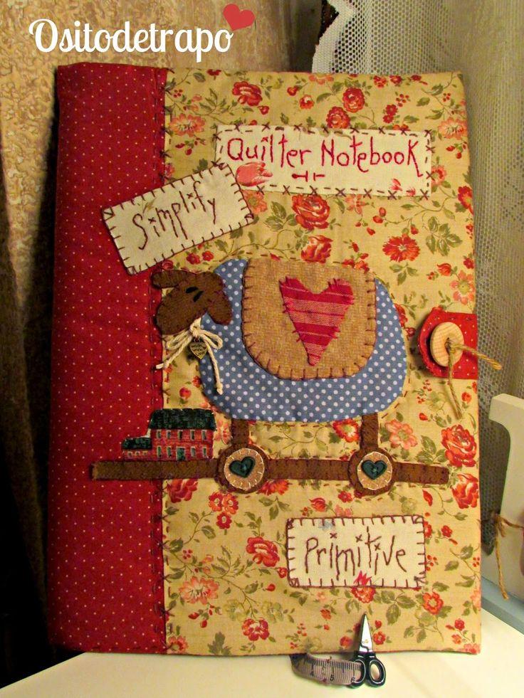 Me encanta este Quilter Notebook que ha hecho Carmen de Ositodetrapo. Las telas son muy amorosas y calidad.