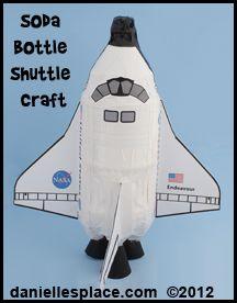 Space Shuttle Pop Bottle Craft for Kids www.daniellesplace.com