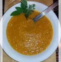 Blutgruppen Ernährung und Diät. Rezept für Blutgruppe B. Süßkartoffelsuppe als Vorspeise oder Hauptspeise.