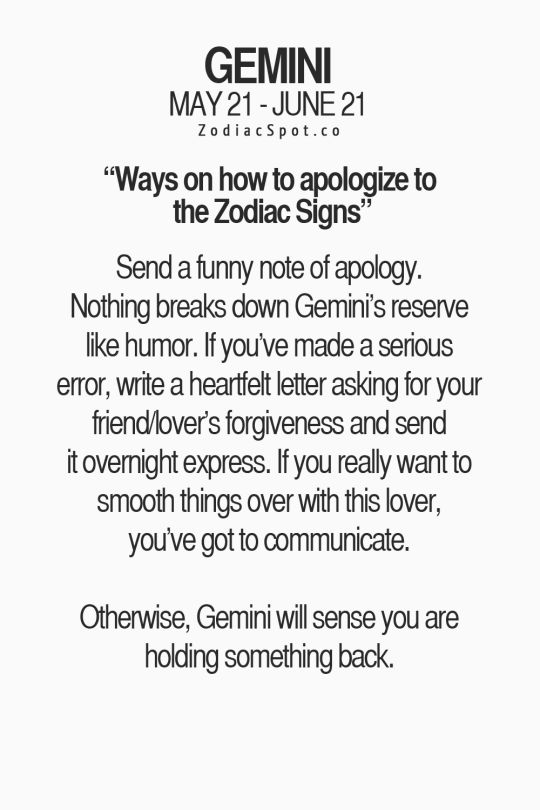 Gemini A Man Say Things To To