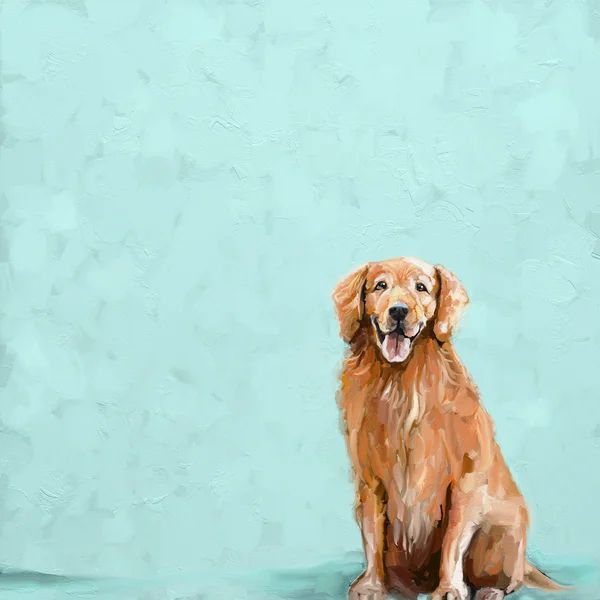Best Friend Sweet Golden Retriever By Cathy Walters Wrapped Canvas Print In 2021 Golden Retriever Wall Art Golden Retriever Painting Golden Retriever Canvas