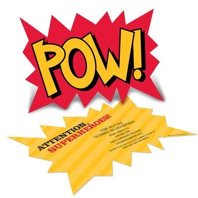 Superhero Birthday Invitations -- Calling All Superheroes!