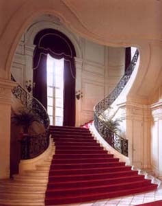 Rosecliff, Newport RI. Staircase,  designed by Stanford White.