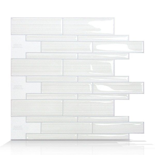 Smart Tiles SM1028 Infinity Blanco Self Adhesive Wall Tile | Lowe's Canada