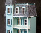 Victorian Mansion, Alison Jr. Wooden Dollhouse Kit, Scale One Inch