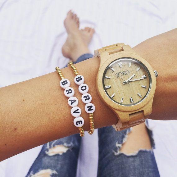 STAY WILD Gold Beaded Bracelet Bohemian by KaizenFashionProject