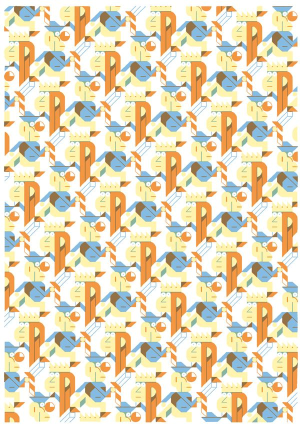 Repeat pattern by Vincent Caut. Lovely!
