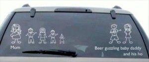 funny car sticker family