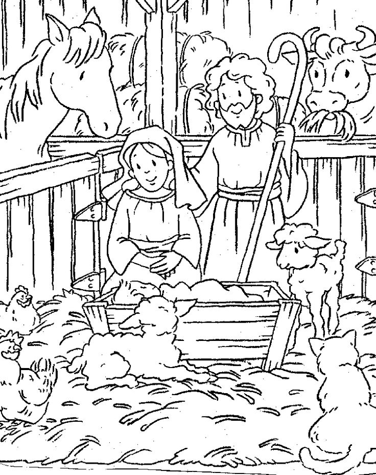 free printable nativity scene coloring