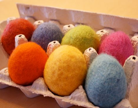 felted easter eggs by Pickles