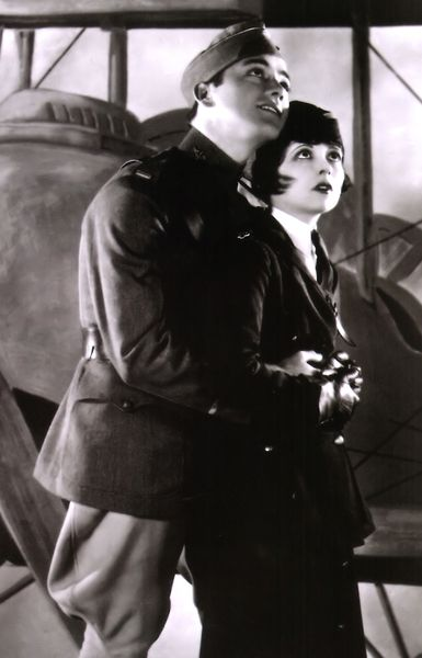 Charles Buddy Rogers  Clara Bow in Wings c.1927