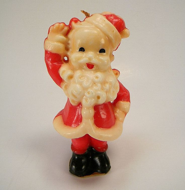 Vintage Gurley Christmas Candle ~ A Different Version of the Waving Santa, circa 1950's.