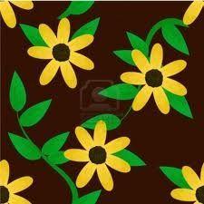Florale patronen voor behang