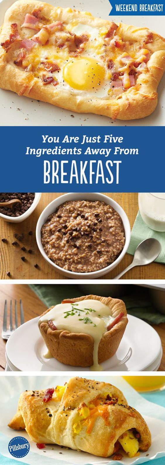 5-ingredient breakfasts almost sound too good to be true! Everyone wants an easy and relaxing morning so this collection of super simple recipes will be your new go-to morning solve. From eggs benedict to breakfast sandwiches to danishes you're sure to find something your whole family will love!