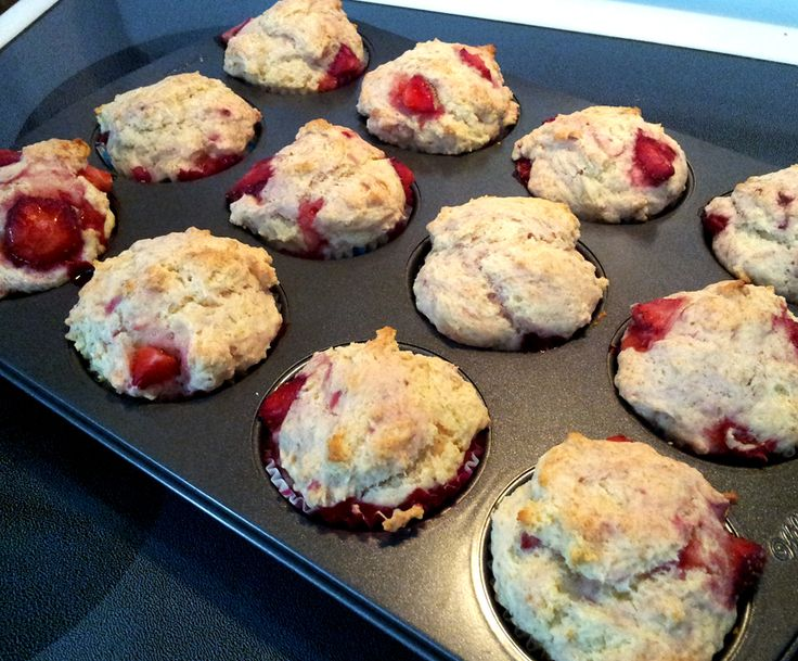 Recette Muffins savoureux aux fraises - Recettes du Québec