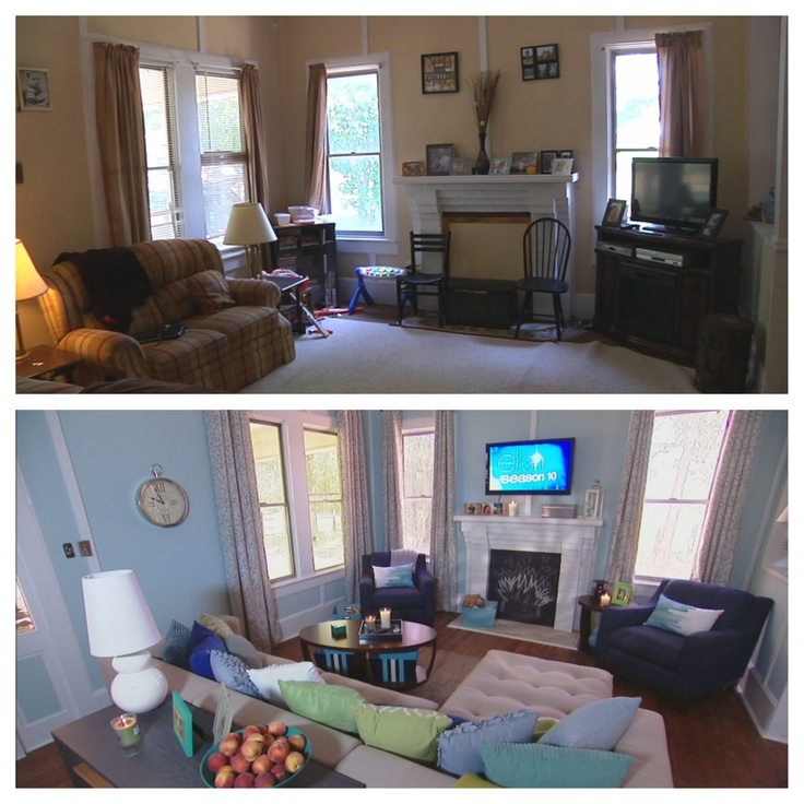 Before and after the living room ideas para el hogar for The family room el segundo